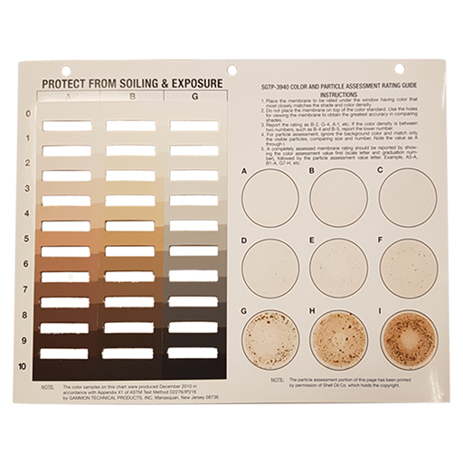 Color and Particle Rating Chart - 16210-0