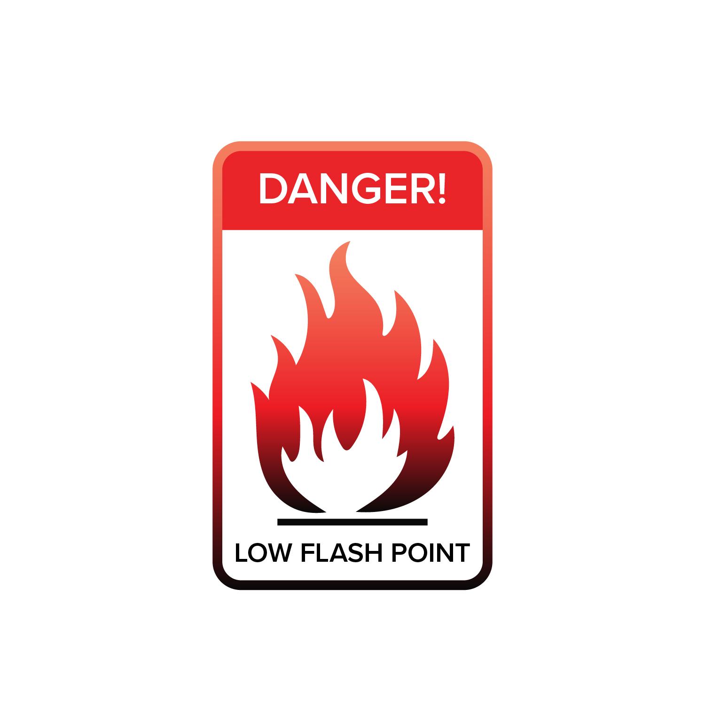 Flash Point Warning Sign