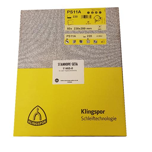 Silicon Carbide Paper P220 FEPA Grade (Pack of 50) - 11465-0