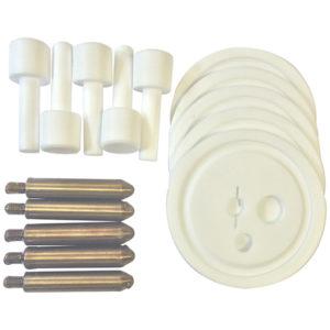 Vertical Test Specimen, PTFE Beaker Cover & PTFE Holder (Pack of 5) - 11290-2